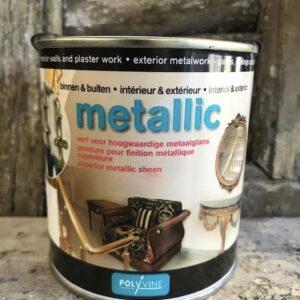 Polyvine- metallic-glanslak -1 ltr-Zilver