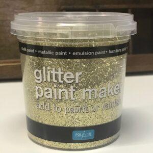 Polyvine glitterverf maker Goud