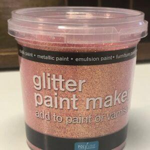 Glitter verf maker roze