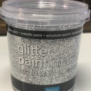 Glitterverf maker Polyvine Zilver