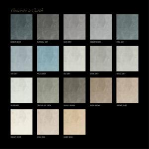 Stucco d'Or -Concreto-Concrete en Earth-Samplepakket