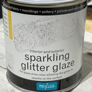 Polyvine glittervernis Zilver