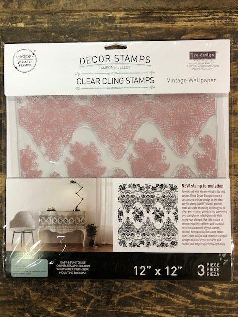 Re-Design - Decoratie stempel -Vintage Wallpaper