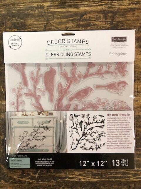 Re-Design - Decoratie stempel -Springtime
