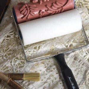 Vintage paint- Patroon roller- Flower