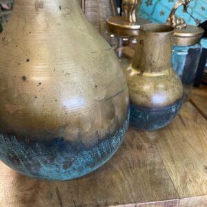 Set metalen vaasjes- Azur Copper