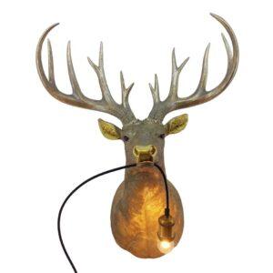 Dieren lamp Gouden Hertenkop