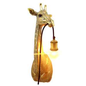 Dieren wandlamp Gouden Giraffe
