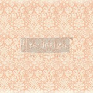 Decoupage papier van Redesign- Peach Damask