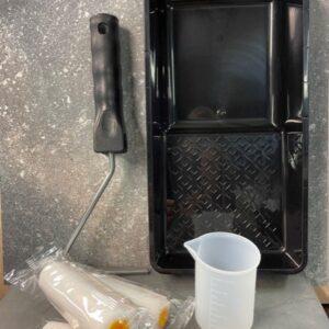 Accessoire set voor 2 componenten Lak met 3 lakrollers