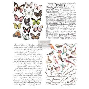 Redesign- Decoratie- Transfer- Parisian Butterflies